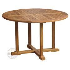 star teak outdoor round pedestal table