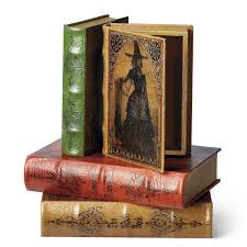 Decorative Boxes That Look Like Books Vintage Halloween Book Boxes The Green Head 2