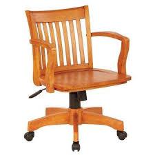 Wooden swivel desk chair Wheels Deluxe Fruitwood Wood Bankers Chair Pottery Barn Wood Swivel Officedesk Chair Office Chairs Home Office