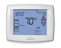 lennox touchscreen thermostat. emerson 1f95-1277 touchscreen 7-day programmable thermostat - household thermostats amazon.com lennox p
