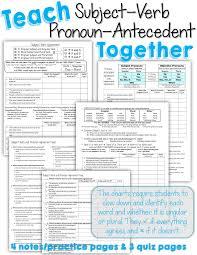 Pronoun Antecedent Agreement Teach Subject Verb And Pronoun Antecedent Agreement Together