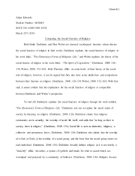 classical sociology essay final draft  edwards 1 adam edwards student number 0402605 soci 210 a mo 9