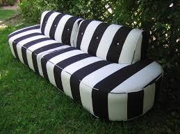 outdoor striped black and white couch black and white striped furniture