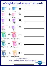 Cooking Measurement Worksheets Free Worksheets Library | Download ...