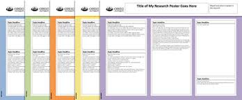 Research Poster Layouts Ohio University Research Research Poster Templates