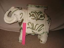 vintage white elephant garden or plant