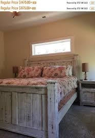 Reclaimed wood bed frame that is made very sturdy and built to last ...