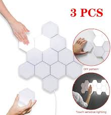 Diy Wall Light Panel Amazon Com Bdqq Hexagonal Wall Light Touch Sensitive