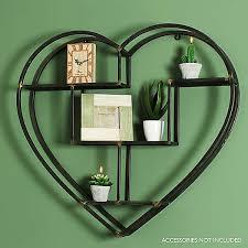 home living metal heart shaped shelf