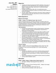 Medical Records Technician Resume Extraordinary Sample Resume For Medical Technologist Beautiful Medical Records