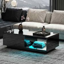 modern black coffee table high gloss 1