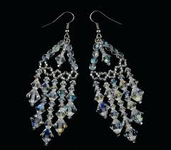 crystal beaded chandelier earrings tiered dalila earrin