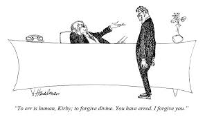 punch cartoons by bud handelsman punch magazine cartoon archive  to err is human kirby to forgive divine you have erred
