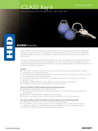 hid® iclass® x iclass key ii hid global iclass key ii keyfob datasheet