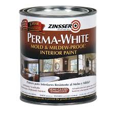 Lowes Bathroom Paint Shop Zinsser White Semi Gloss Acrylic Interior Paint And Primer In
