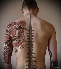 тату красный дракон мужская татуировка на плече Tatufotocom