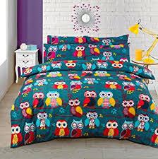 Multi Owl Duvet / Quilt Cover Bedding Set Owl Bedding Multi Mid ... & Multi Owl Duvet / Quilt Cover Bedding Set Owl Bedding Multi Mid Night Owl ( Double Adamdwight.com