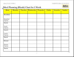 Diabetic Meal Planner Free Meal Plan Diagrams Technical Diagrams