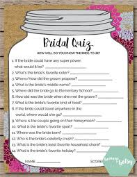 bridal shower game mason jar theme shower by aestheticjourneys Wedding Ideas Quiz this printable bridal quiz game is perfect for any bridal shower or wedding keep guests entertained while watching a bride open gifts at a shower, wedding theme ideas quiz
