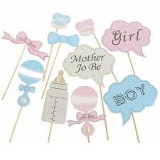 new party gifts photo booth props diy bottle baby shower boy girl birthday enclosed stick frame frames