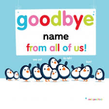 printable goodbye cards animals brands themes goodbye good luck occasions