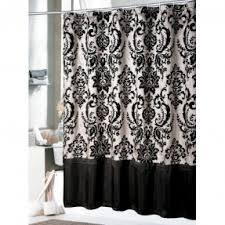 white and black shower curtain. Black Toile Shower Curtain 1 White And