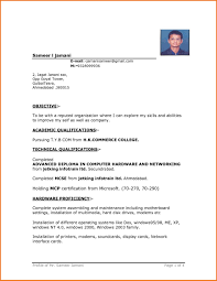 Simple Resume Format In Word File Throughout Breathtaking Basic