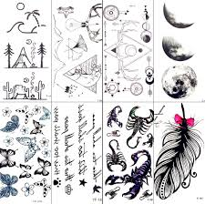 Sea Wave Beach Camp Temporary Tattoo Stickers Triangle Antlers Mountain Waterproof Tattoo Men Body Arm Art Tatoo Women Decal