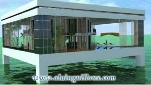 House Overwater Concrete Maison Sur Pilotis En B Ton Youtube