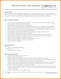 Groundskeeper Resume Sample Gallery Creawizard Com