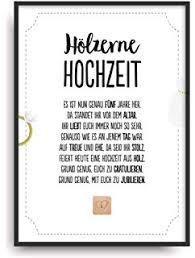 Hölzerne Hochzeit Urkunde Personalisiert Geschenk Karte Zum 5