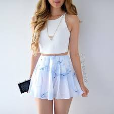 skirt top white top summer gold necklace blouse white jewels shirt blue pastel pastel blue pink