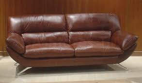 brown leather sofa beds