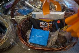 thank you baskets intended for spring valley hospital workers wait on a table at the hospital s