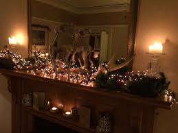Fairy Lights For Mantle Fairy Lights Greenery And A Stag Over Mantle Christmas At