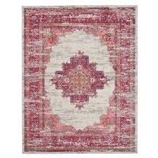nourison passion ivory fuchsia 8 ft x 10 ft area rug
