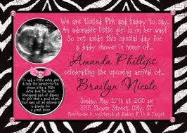 Hot Pink Zebra Print Girl Baby Shower Invitations  ZazzlecomPink Zebra Baby Shower Invitations