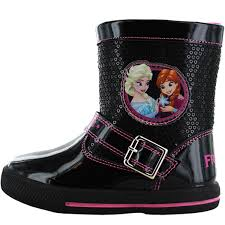 disney frozen wainwright girls kids boots black pink sizes 6 7 8
