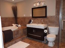 Brown Tiles Bathroom Small Bathroom Remodels In Black And White Theme With White