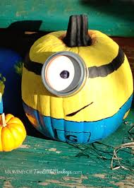 Painted Minion Pumpkins Decorating And Painting Minion Pumpkins For Halloween