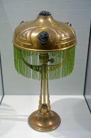Filetable Lamp By Joseph Maria Olbrich C 1901 Brass Glass