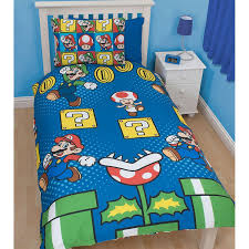 nintendo bed set super mario jump single us twin duvet bedsets4 with regard to comforter prepare