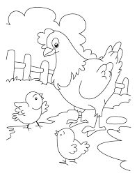 Small Picture Hen and Chicken coloring page Download Free Hen and Chicken