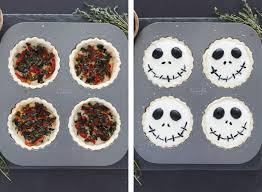 Jack Skellington Decorations Halloween Halloween Jack Skellington Ricotta Olive Tarts Snixy Kitchen