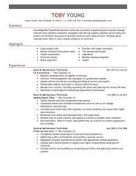 Supply Technician Resume Sample Maintenance Resume Samples