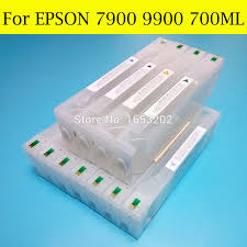 <b>1 Set</b> Empty <b>Refill Ink Cartridges</b> For Epson 7900 9900 Printer With ...