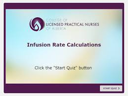Infusion Rate Calculations