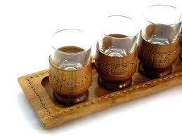 wooden shot glass like this item wood holder wooden shot glass tray a long wood holder
