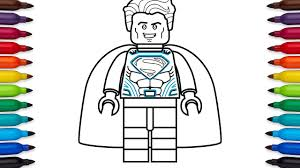 Print out or color online and then use your crayons. How To Draw Lego Superman Coloring Pages Youtube