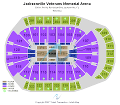 Jacksonville Memorial Arena Seating Chart Jacksonville Veterans Memorial Arena Seating Reviews Image